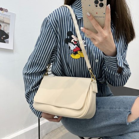 simple soft leather single shoulder underarm bag wholesale Nihaojewelry NHWH399680's discount tags