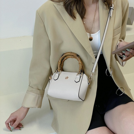 bamboo hand-held texture fashion one-shoulder messenger bag wholesale Nihaojewelry NHLH399701's discount tags