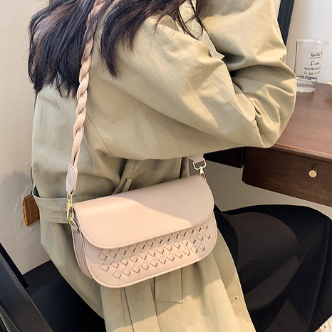 texture woven korean style one-shoulder messenger bag wholesale Nihaojewelry NHLH399710's discount tags