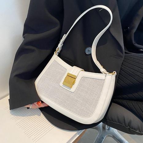 fashion lock geometric messenger one-shoulder armpit bag wholesale Nihaojewelry NHLH399725's discount tags