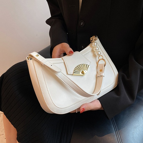 textured shell lock single shoulder messenger underarm bag wholesale Nihaojewelry NHLH399726's discount tags
