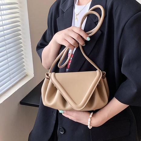 Folds drawstring flip Korean Style one-shoulder messenger cloud bag wholesale Nihaojewelry NHLH399727's discount tags