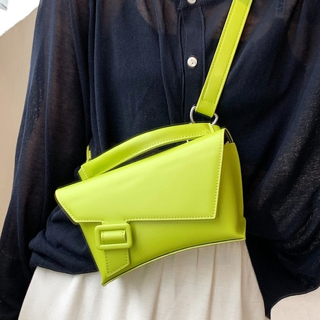 solid color texture portable shoulder messenger bag wholesale Nihaojewelry NHLH399737's discount tags