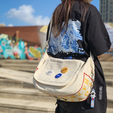 solid color canvas shoulder messenger sports bag wholesale Nihaojewelry NHLH399747's discount tags