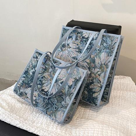 neue Mode einfache Schulter Monet Ölgemälde Tasche Großhandel nihaojewelry NHGN399749's discount tags