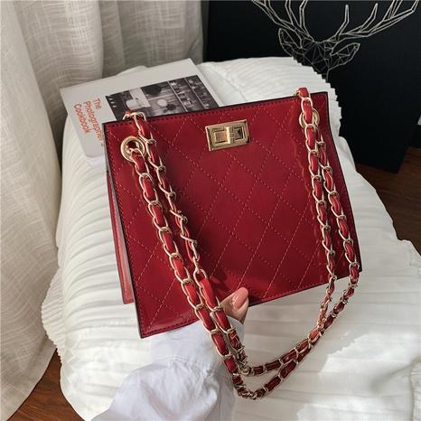 Koreanische Vintage-Modekette mit einer Schulter kleine quadratische Tasche Großhandel nihaojewelry NHGN399753's discount tags