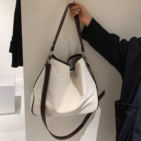 wholesale large-capacity hit color messenger shoulder bucket bag nihaojewelry  NHGN399799's discount tags