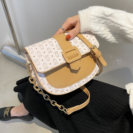 wholesale cartoon pattern contrast color cross-body saddle bag nihaojewelry  NHGN399801's discount tags