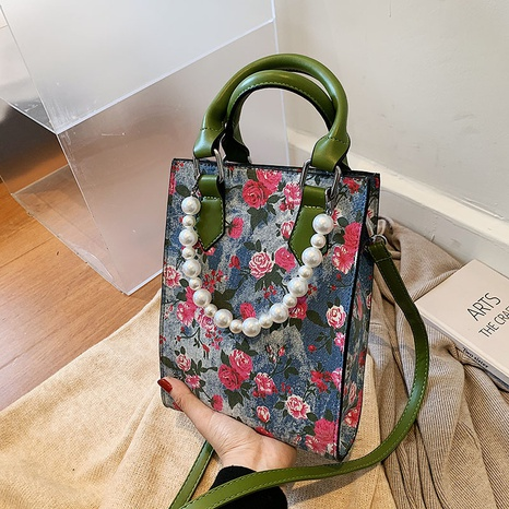 wholesale flower print portable messenger tote bag nihaojewelry  NHGN399809's discount tags