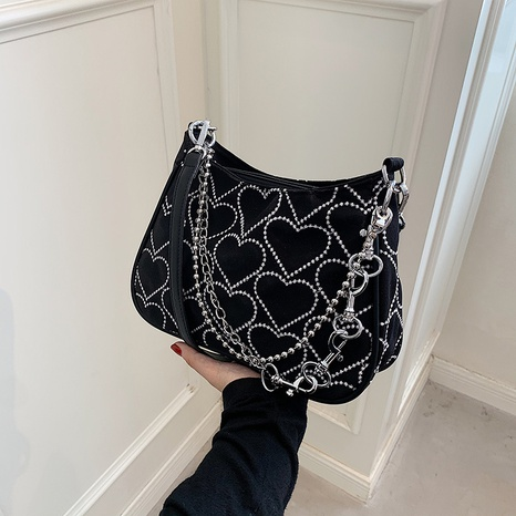 wholesale heart embroidery thread messenger shoulder underarm bag nihaojewelry  NHGN399808's discount tags