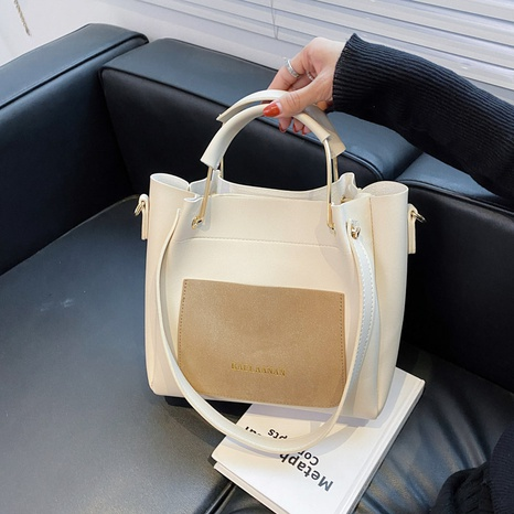 wholesale large-capacity contrast color diagonal portable bag nihaojewelry  NHGN399821's discount tags