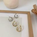vintage curved geometric earrings wholesale nihaojewelry NHMS399992