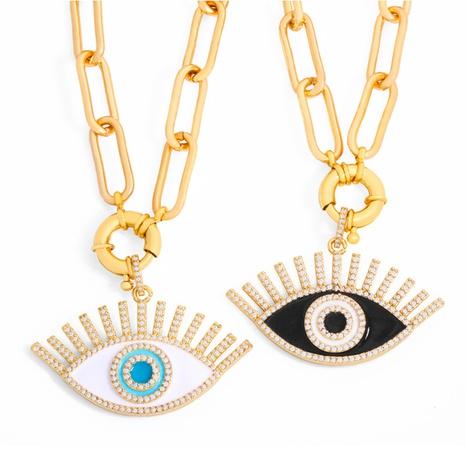Al por mayor collar de circonitas de ojos de diablo de moda Nihaojewelry NHAS400059's discount tags