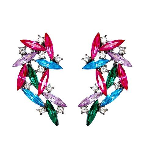 geometric diamond-studded symmetry angel wings earrings wholesale nihaojewelry NHJJ400073's discount tags