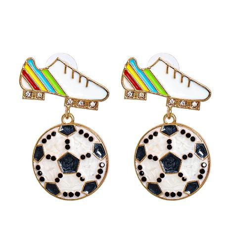 fashion diamond-studded sports shoes football earrings wholesale nihaojewelry NHJJ400071's discount tags
