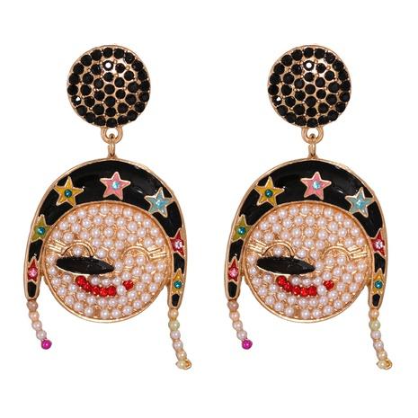 New Fashion Creative Christmas Snowman Earrings Wholesale Nihaojewelry NHJJ400081's discount tags