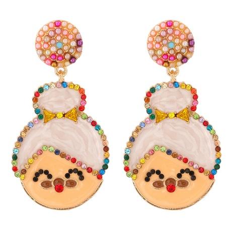 New Fashion Creative Christmas Granny Earrings Wholesale Nihaojewelry NHJJ400080's discount tags