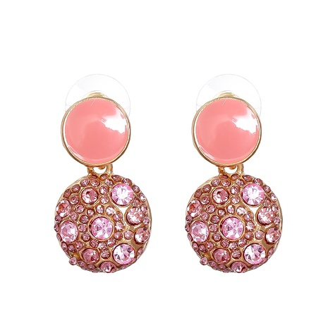 new retro geometric round diamond earrings wholesale nihaojewelry NHJJ400078's discount tags