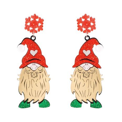 New Creative Christmas Elk Santa Earrings Wholesale Nihaojewelry NHJJ400082's discount tags