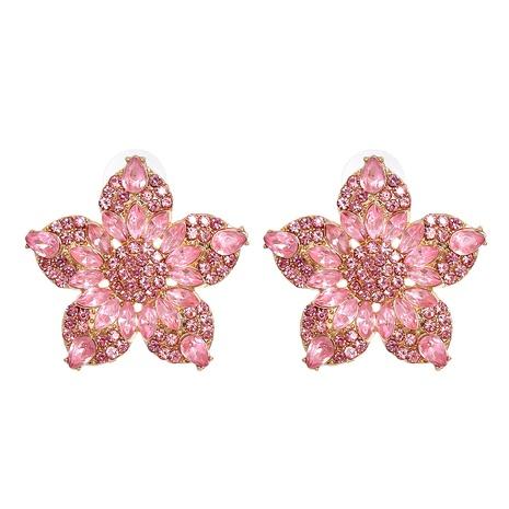 retro geometric color flower diamond earrings wholesale nihaojewelry NHJJ400091's discount tags