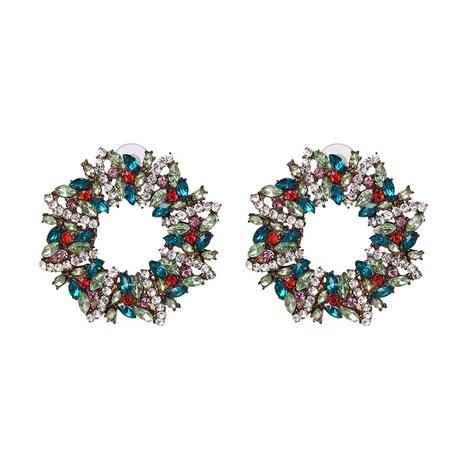 new Christmas wreath diamond earrings wholesale nihaojewelry NHJJ400087's discount tags