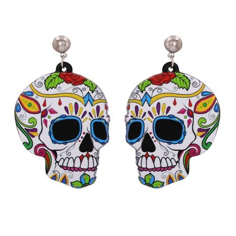 Pendientes de resina acrílica fantasma de calabaza de halloween al por mayor nihaojewelry NHJJ400088's discount tags