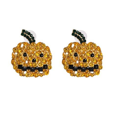 horror Halloween orange pumpkin ghost combination earrings wholesale nihaojewelry NHJJ400089's discount tags
