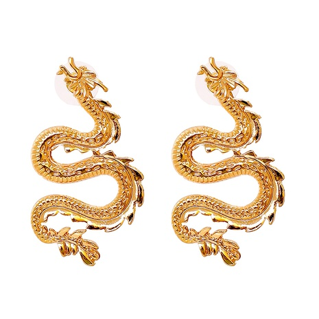 new fashion solid color dragon earrings wholesale nihaojewelry NHJJ400094's discount tags