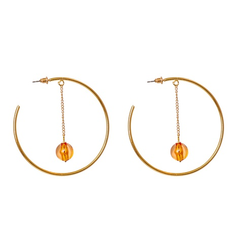new fashion geometric C-shaped ball earrings wholesale nihaojewelry NHJJ400095's discount tags