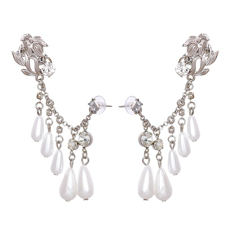 vintage fashion inlaid pearl geometric earrings wholesale nihaojewelry NHJJ400097's discount tags