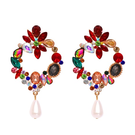 fashion color geometric diamond series flower earrings wholesale nihaojewelry NHJJ400098's discount tags