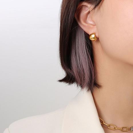 wholesale jewelry geometric irregular titanium steel stud earrings nihaojewelry  NHOK400132's discount tags