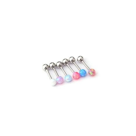 wholesale jewelry color gemstone stainless steel stud earrings nihaojewelry  NHEN400225's discount tags