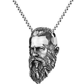 wholesale jewelry human head pendant stainless steel necklace nihaojewelry  NHACH400556