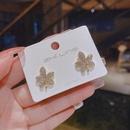 wholesale jewelry leaf shape diamond stud earrings nihaojewelry  NHQIY400652