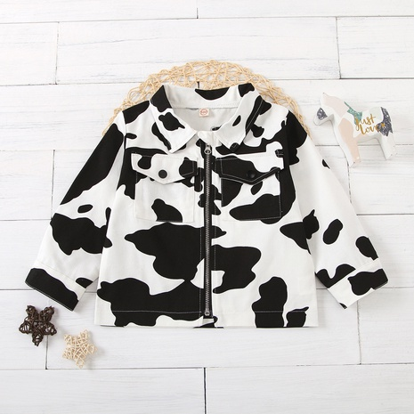 new fashion children's clothing black white contrast color jacket wholesale nihaojewelry NHUS414997's discount tags