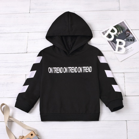 New English letters printed hooded children's sweater wholesale Nihaojewelry  NHUS415013's discount tags