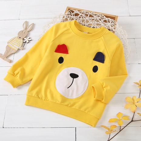 cartoon bear avatar printing round neck long-sleeved children's pullover fwholesale Nihaojewelry  NHUS415017's discount tags