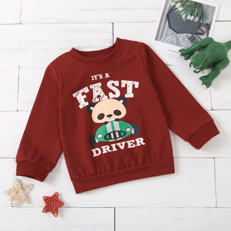 new panda letter printed children's pullover sweater wholesale Nihaojewelry  NHUS415020's discount tags