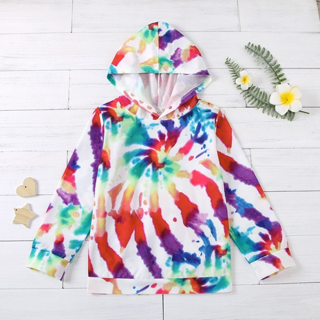 fashion tie-dye three-dimensional colorful hooded children's sweaters wholesale Nihaojewelry  NHUS415036's discount tags