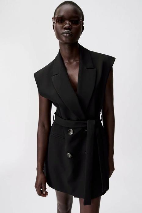 nuevo traje adelgazante de moda vestido sin mangas cruzado estilo chaleco al por mayor nihaojewelry NHAM415297's discount tags