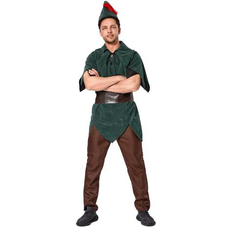 Cuento de hadas cosplay Peter Pan bosque verde elfo príncipe disfraz de cuatro piezas al por mayor nihaojewelry NHFE415664's discount tags