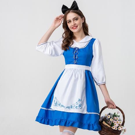Cuento de hadas de Halloween Alice cosplay azul blanco falda de niña de granja al por mayor nihaojewelry NHFE415666's discount tags