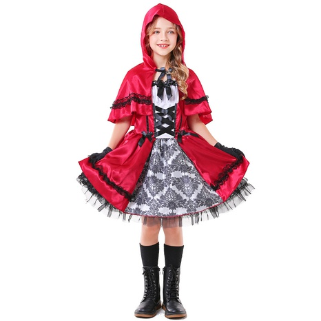 Fashion Children's Little Red Riding Hood Cosplay Clothes Halloween Costumes Wholesale Nihaojewelry NHFE415678's discount tags