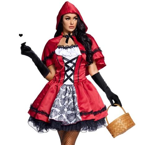 Fiesta de Halloween cosplay vestido de encaje con estampado de Caperucita Roja al por mayor nihaojewelry NHFE415679's discount tags