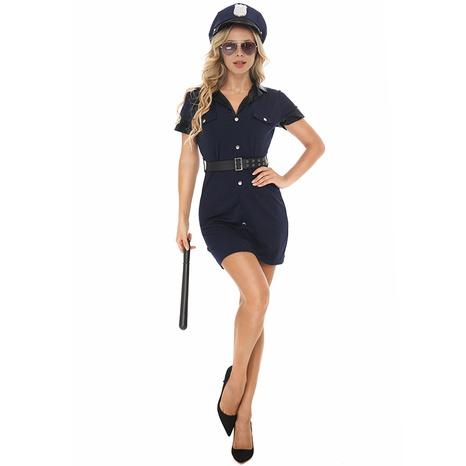 Traje de uniforme negro de policía de cosplay de halloween al por mayor nihaojewelry NHFE415680's discount tags