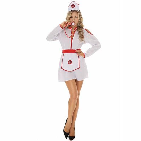 sexy cosplay uniforme de enfermera delantal blanco vestido al por mayor nihaojewelry NHFE415681's discount tags