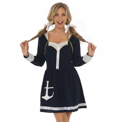 Fiesta de halloween cosplay azul marino trajes de marinero vestido al por mayor nihaojewelry NHFE415682's discount tags