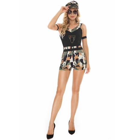 Halloween cosplay coach auto-cultivo sling Conglin disfraz de camuflaje al por mayor nihaojewelry NHFE415685's discount tags