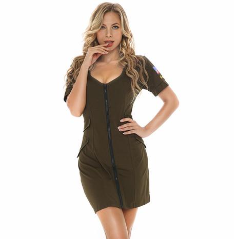 Instructor de cosplay de halloween vestido de agente verde oscuro al por mayor nihaojewelry NHFE415686's discount tags